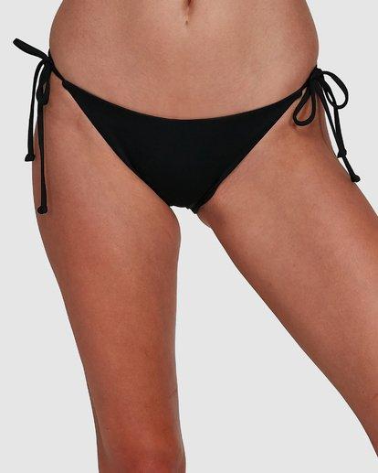 3 Sol Searcher Tie Side Bikini Bottoms Black 6592782X Billabong