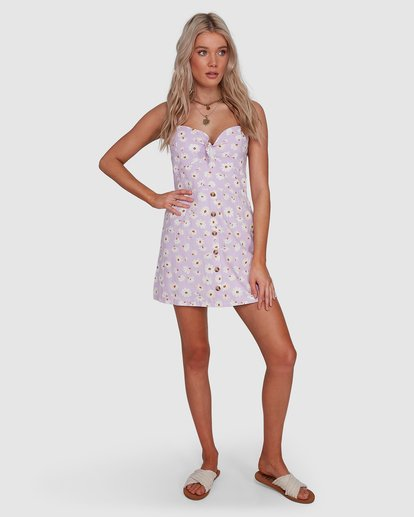8 Del Sol Franca Dress Purple 6592906X Billabong