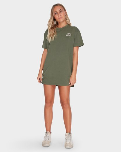 3 IN WAVES WE TRUST TEE Green 6595003 Billabong