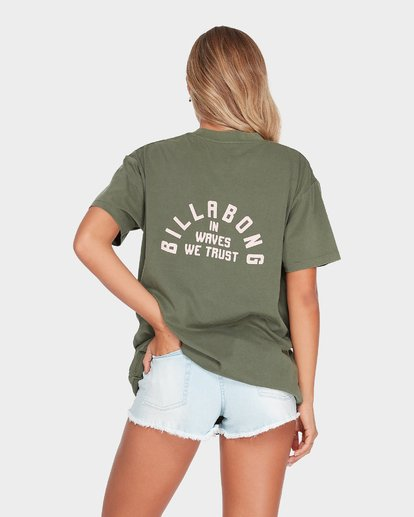 2 IN WAVES WE TRUST TEE Green 6595003 Billabong