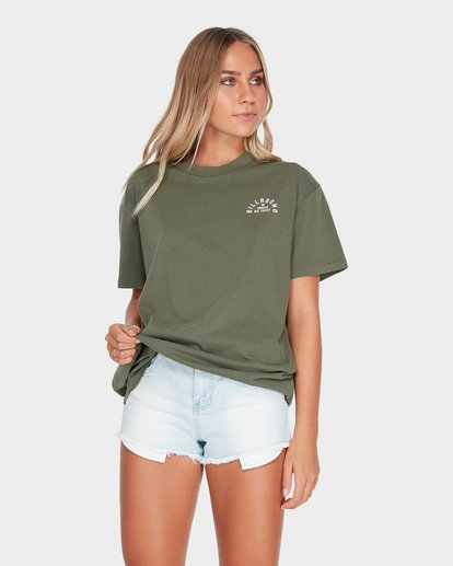0 IN WAVES WE TRUST TEE Green 6595003 Billabong