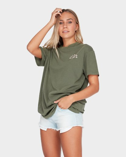 1 IN WAVES WE TRUST TEE Green 6595003 Billabong