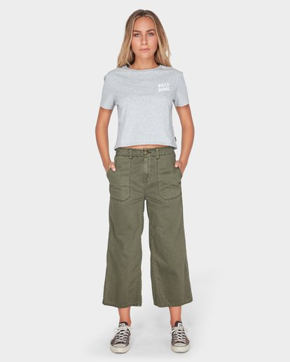 3 HEADLINE CROP TEE Grey 6595008 Billabong