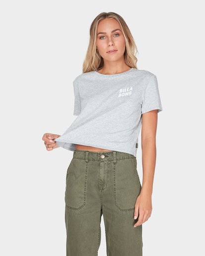 0 HEADLINE CROP TEE Grey 6595008 Billabong