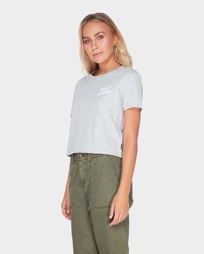 1 HEADLINE CROP TEE Grey 6595008 Billabong