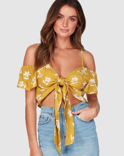 2 LIFE ON HOLD TOP Yellow 6595092 Billabong