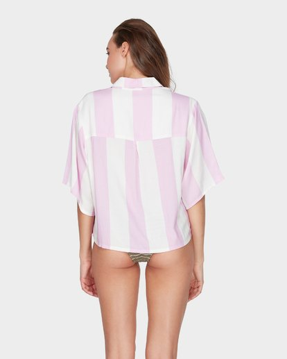 2 SUNDAY STRIPE SHIRT Purple 6595111 Billabong