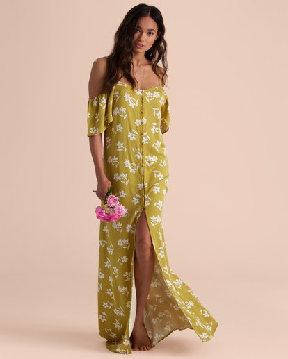 3 SHOULDER SWAY MAXI DRESS Yellow 6595473 Billabong