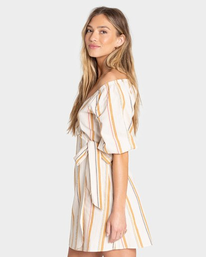 3 BEST DRESSED WRAP DRESS White 6595489X Billabong