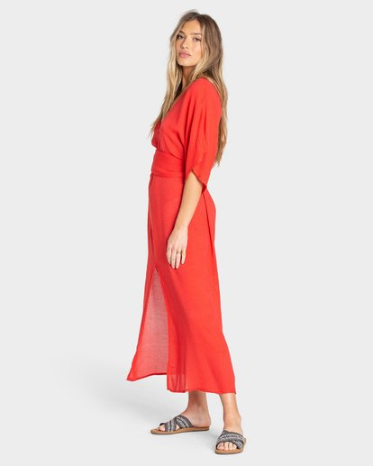 1 FOREVER FINE DRESS Red 6595490X Billabong