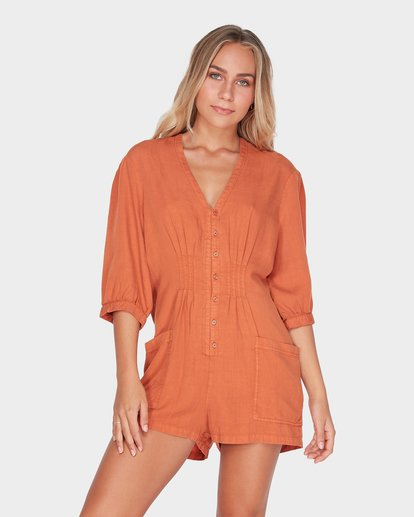 1 SUNDAY VIBES ONESIE Brown 6595511 Billabong