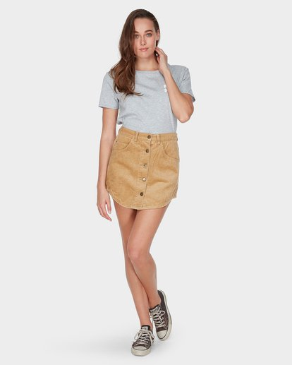 5 BEYOND THE VALLEY SKIRT Yellow 6595529 Billabong