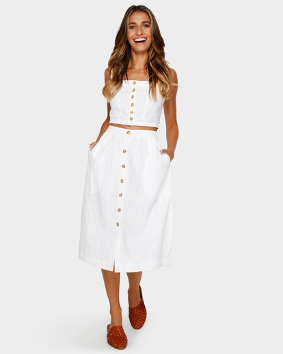 9 ALHAMBRA MIDI SKIRT White 6595533M Billabong