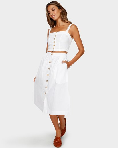 1 ALHAMBRA MIDI SKIRT White 6595533M Billabong