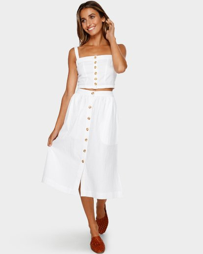 2 ALHAMBRA MIDI SKIRT White 6595533M Billabong