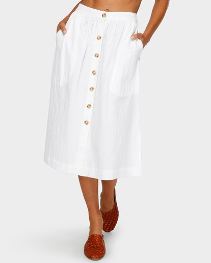 7 ALHAMBRA MIDI SKIRT White 6595533M Billabong
