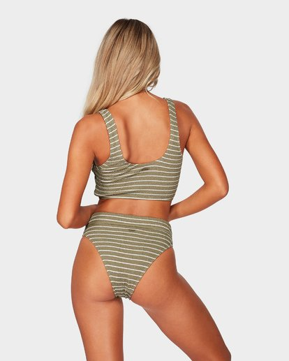 2 HULA STRIPE CROP BIKINI TOP Green 6595573 Billabong