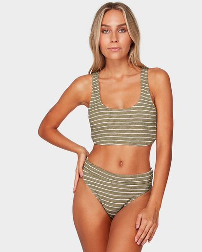 0 HULA STRIPE CROP BIKINI TOP Green 6595573 Billabong