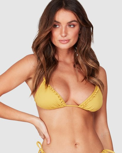 0 LAST SUN SLIDE TRI BIKINI TOP Yellow 6595590X Billabong
