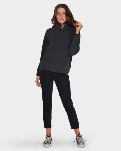 3 BOUNDARY MOCK HALF ZIP FLEECE Black 6595733 Billabong