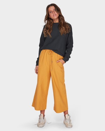 6 FINELINES TRACKPANT Yellow 6595741 Billabong