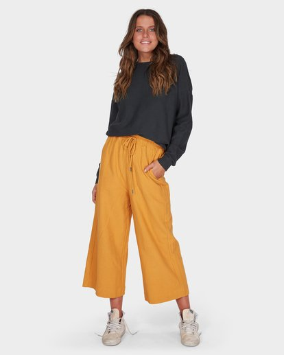1 FINELINES TRACKPANT Yellow 6595741 Billabong