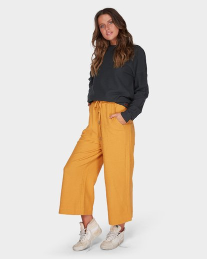 2 FINELINES TRACKPANT Yellow 6595741 Billabong