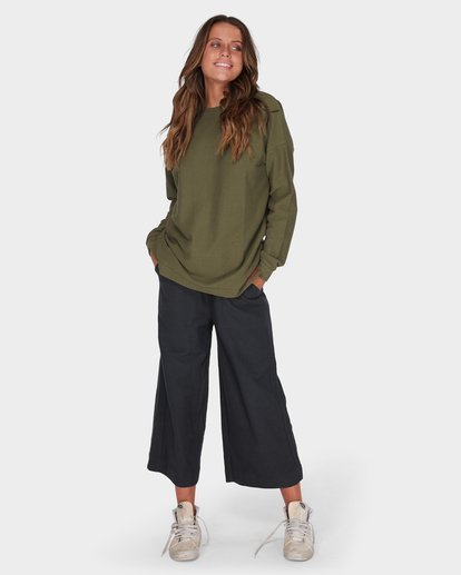 3 FINELINES CREW Green 6595742 Billabong