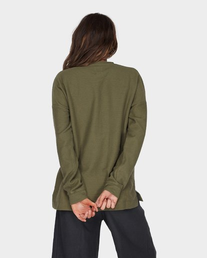 2 FINELINES CREW Green 6595742 Billabong