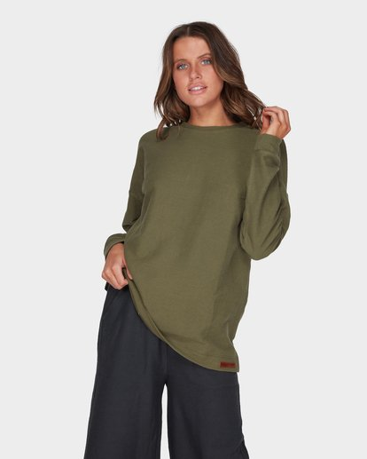 0 FINELINES CREW Green 6595742 Billabong