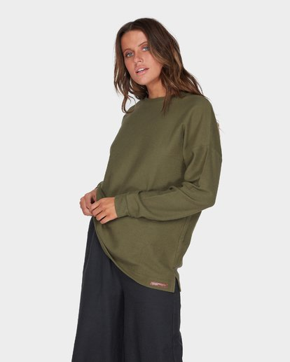 1 FINELINES CREW Green 6595742 Billabong