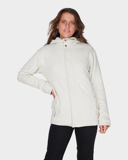 0 KHARLO HOODED FLEECE JACKET Grey 6595751 Billabong