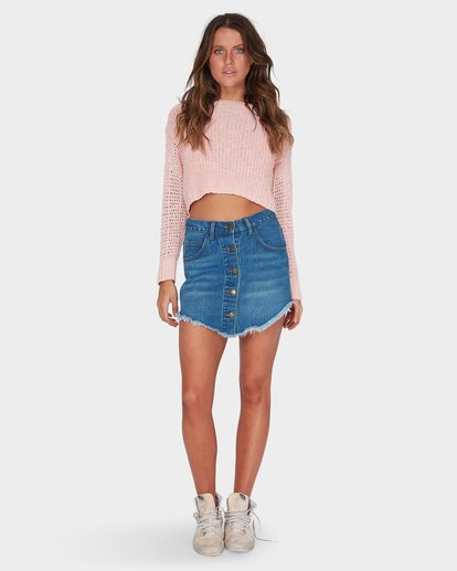 3 BREEZEWAY KNIT CREW Pink 6595796 Billabong