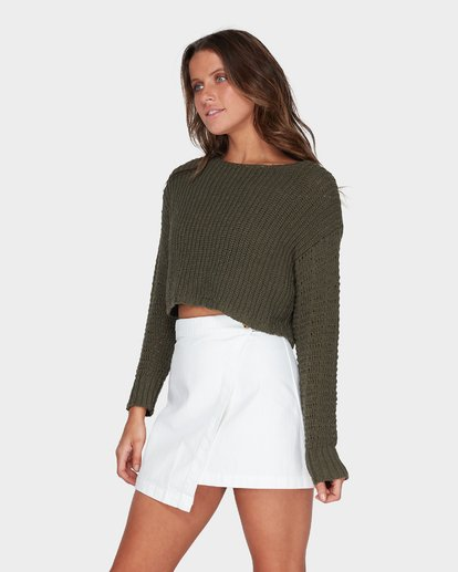 1 Breezeway Knit Crew Green 6595796 Billabong