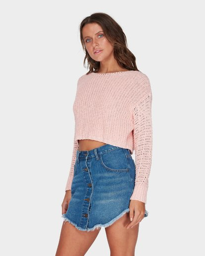 1 BREEZEWAY KNIT CREW Pink 6595796 Billabong