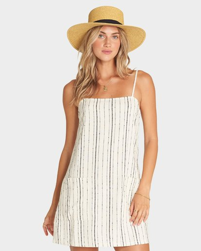 0 STRAIGHT AROUND DRESS White 6595950X Billabong