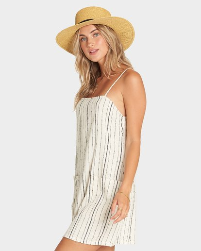 1 STRAIGHT AROUND DRESS White 6595950X Billabong