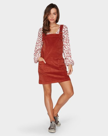 4 IN THE MIX CORD DRESS Brown 6596473 Billabong