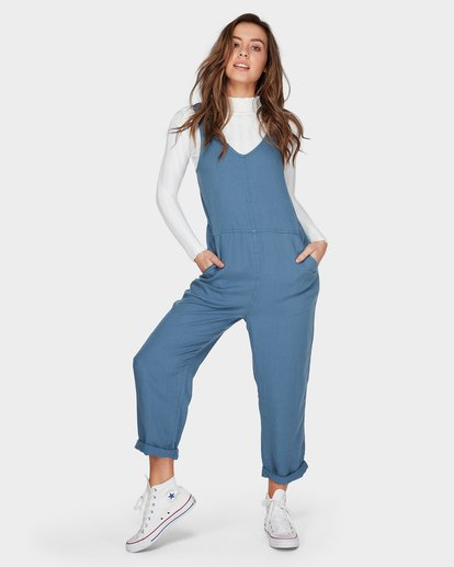 5 DESERT TENCEL JUMPSUIT Blue 6596505 Billabong