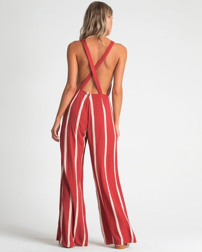 2 STILL HERE JUMPSUIT Red 6596507X Billabong