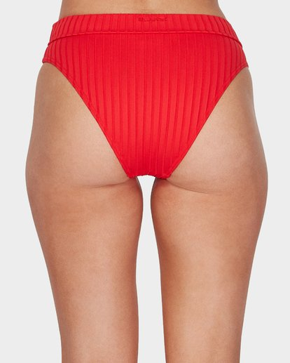 7 SUNNY RIB MAUI RIDER BIKINI BOTTOMS Red 6596553 Billabong