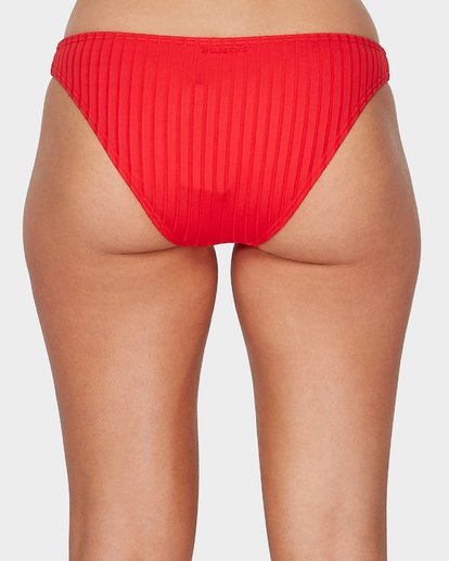 4 SUNNY RIB TROPIC BIKINI BOTTOMS Red 6596559 Billabong