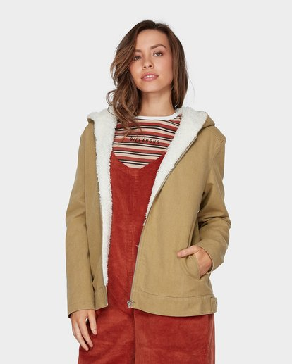 2 YOUNG GUN JACKET Beige 6596891 Billabong