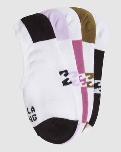 16 Stacked Invisible 5 Pack of Socks Black 6603703 Billabong