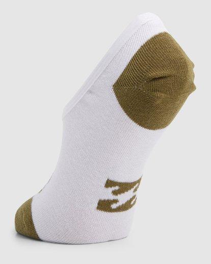 9 Stacked Invisible 5 Pack of Socks Black 6603703 Billabong