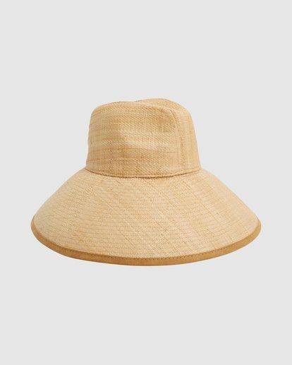 3 Throwin Shade Straw Hat Beige 6613318 Billabong