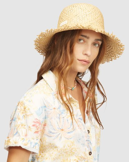 1 Wrangler Pick A Straw Hat Beige 6613323 Billabong