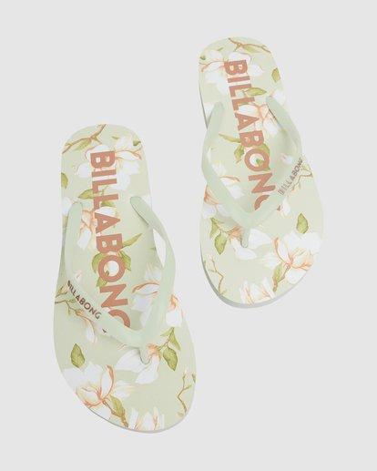 4 Moonflower Thongs Green 6613801 Billabong