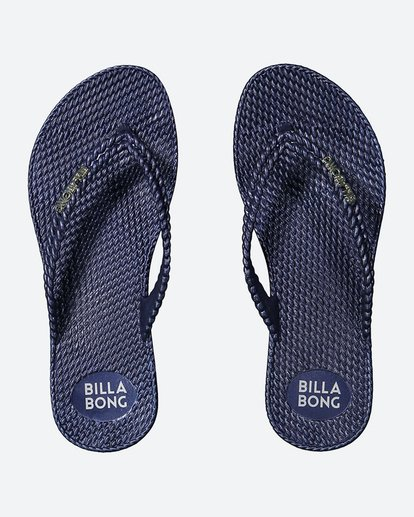 1 Kick Back Metallic Thongs Blue 6661858 Billabong