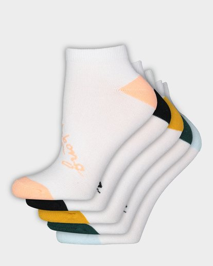 0 Ocean 5 Pack Of Socks White 6681703 Billabong